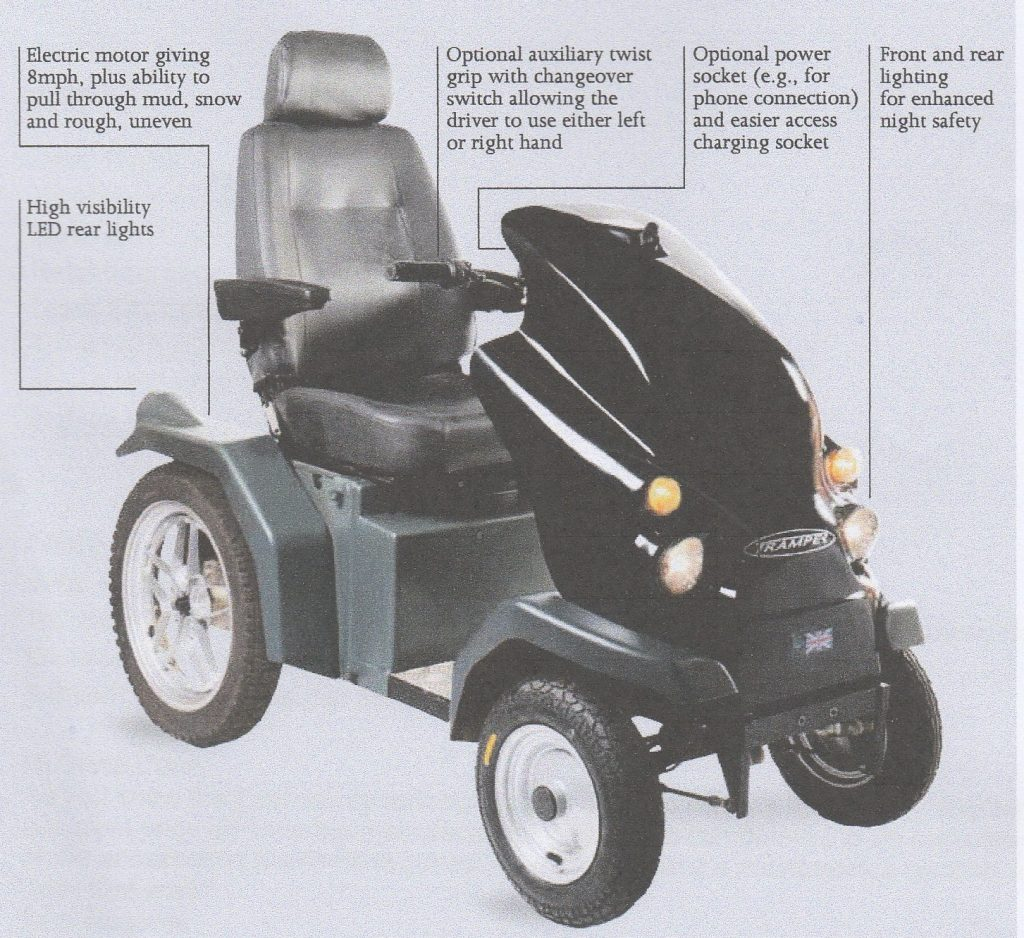 Read more about how to donate to our Walker Fund to replace mobility scooters